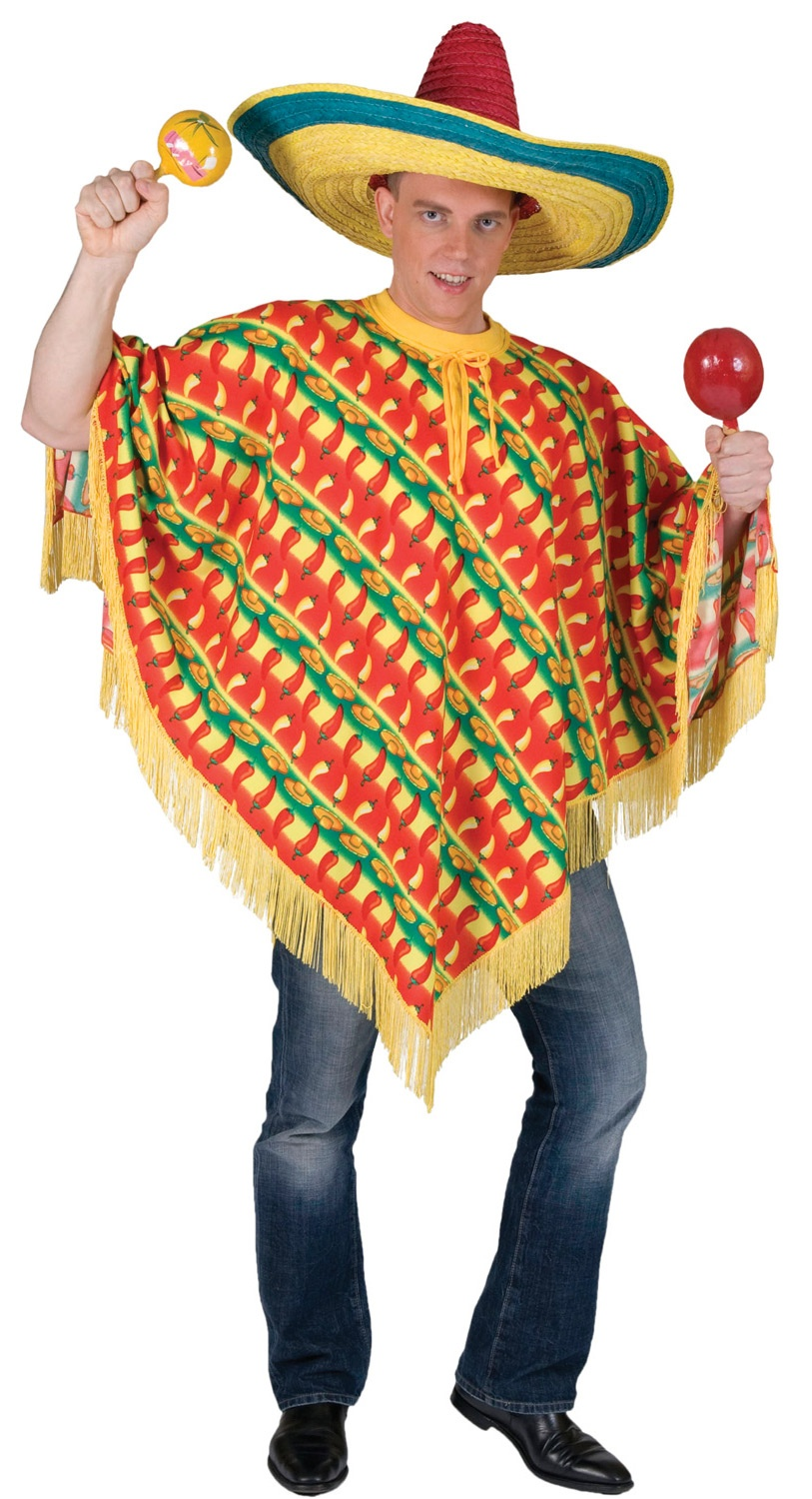 adult fiesta. Fiesta Mexican Poncho Adult Costume