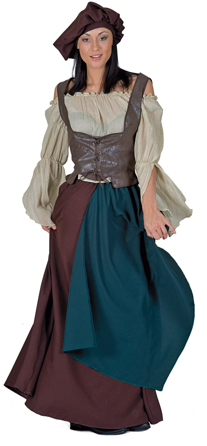 Home >> medieval costumes >> medieval peasant woman adult costume