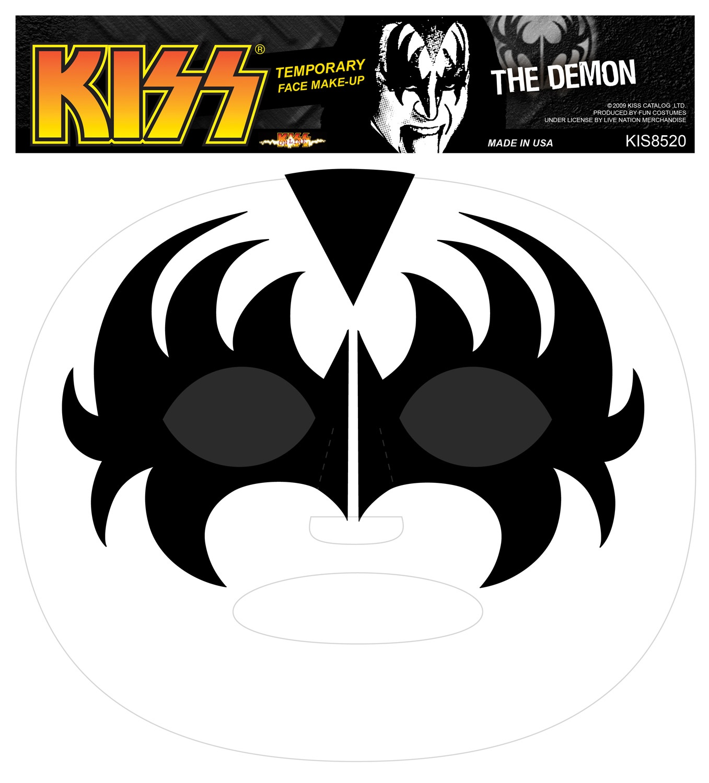 Kiss Demon Makeup: Temporary Demon Kiss Makeup