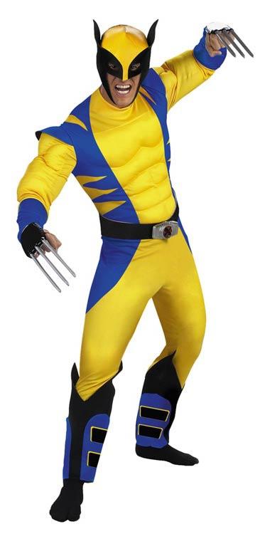 Wolverine muscle deluxe adult costume mr costumes - Costume de super heros ...