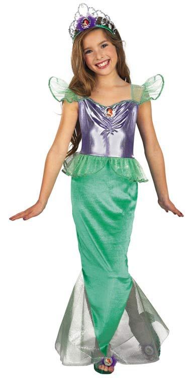 Little mermaid costumes gt gt disney little mermaid princess ariel kids