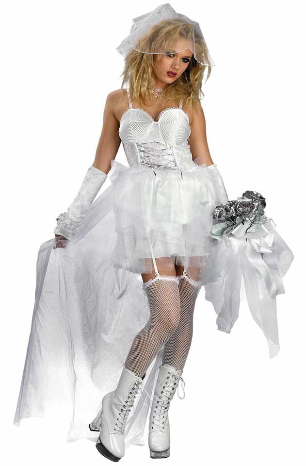 Pop bride gothic adult costume mr costumes for Wedding dress costume for adults