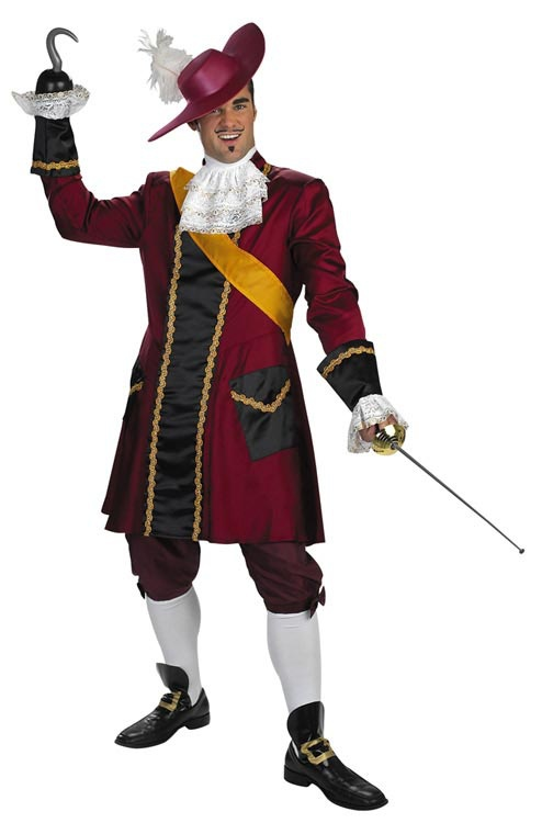 Adult Captain Hook Prestige Pirate Costume. Peter Pan Costumes