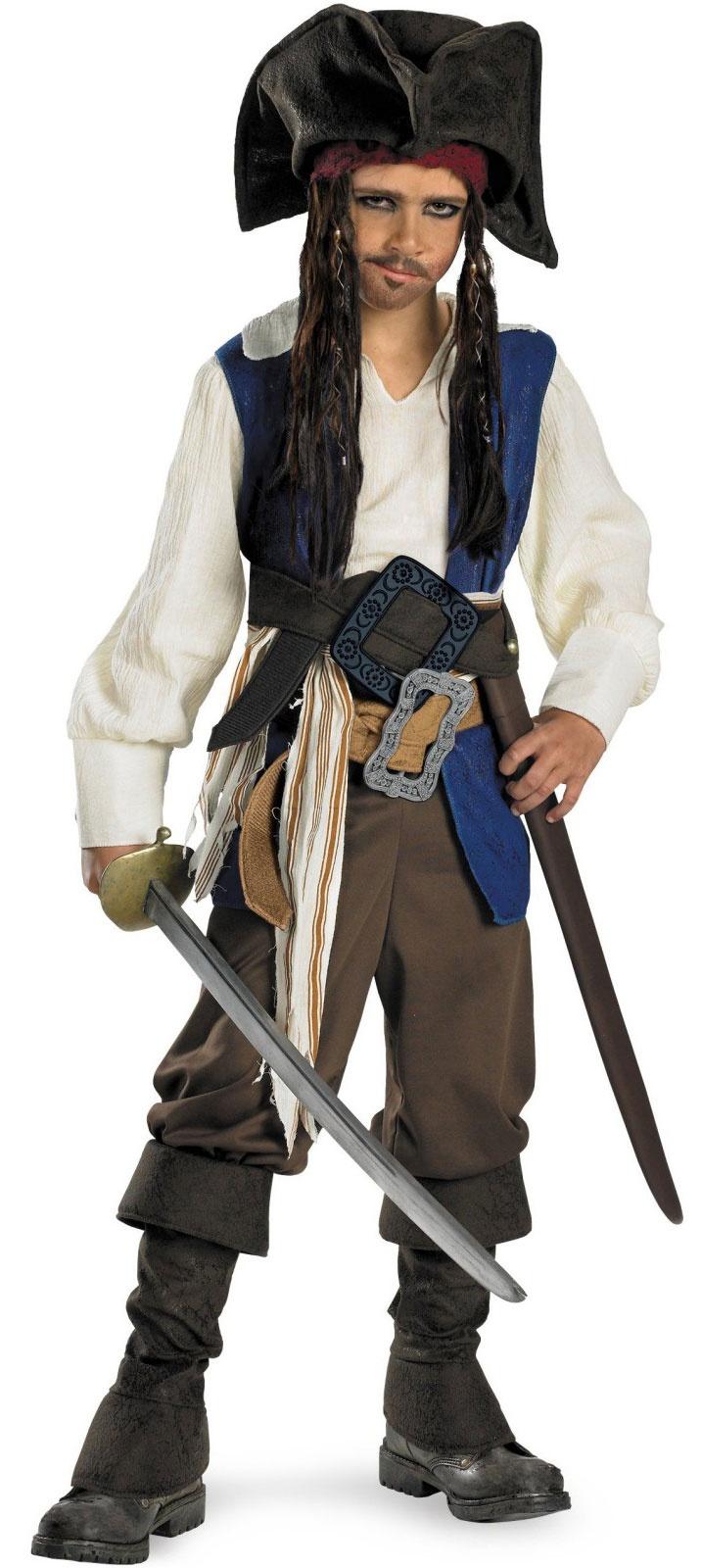 Kids Captain Jack Sparrow Deluxe Pirates Caribbean