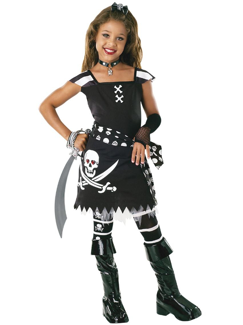 Kids Scar-let Pirate Costume