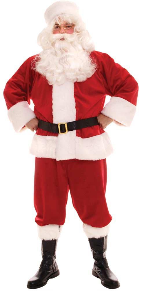 Adult Plush Santa Claus Naughty Santa Claus Costume For Men