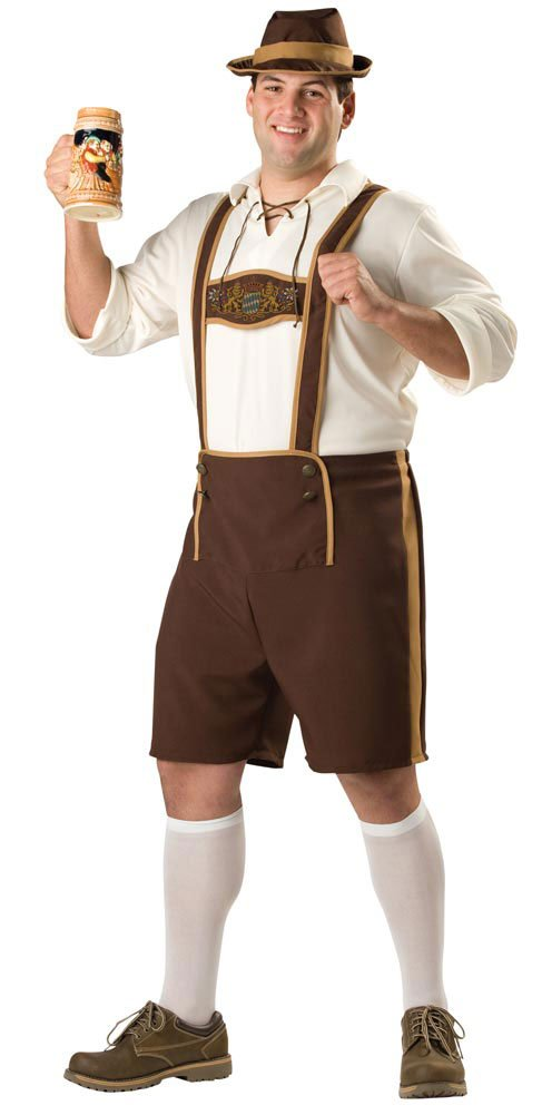 mens plus size bavarian guy costume