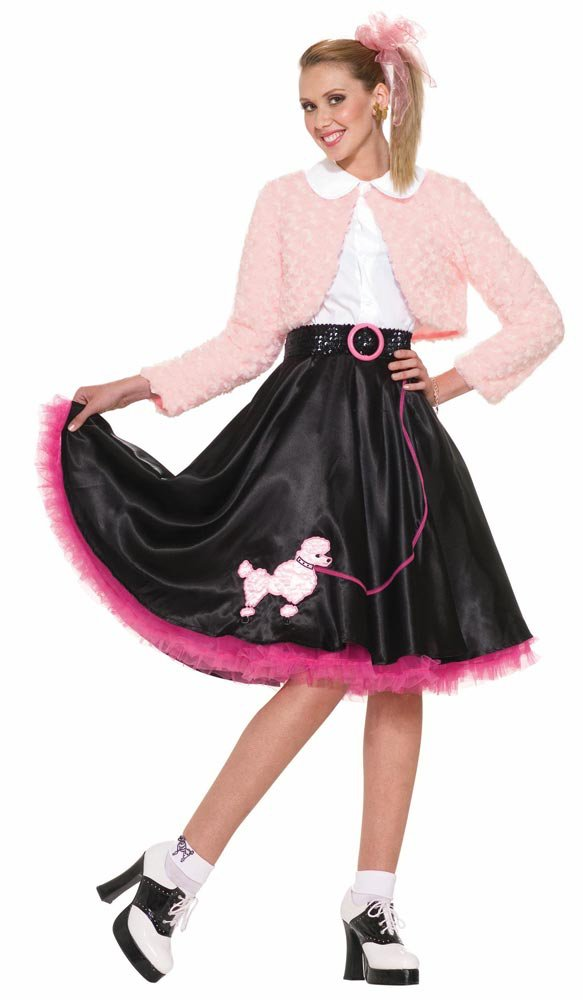 womens poodle skirt sweetheart fifties costume mr