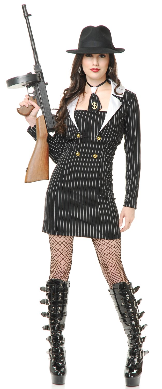 This Sexy Gangster Costume Includes Dress