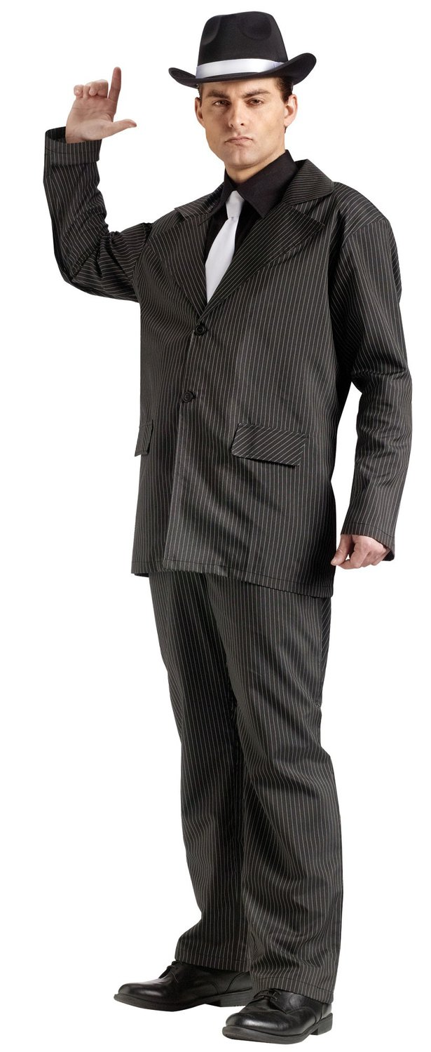 Mens Adult Gangster Costume - Mr. Costumes