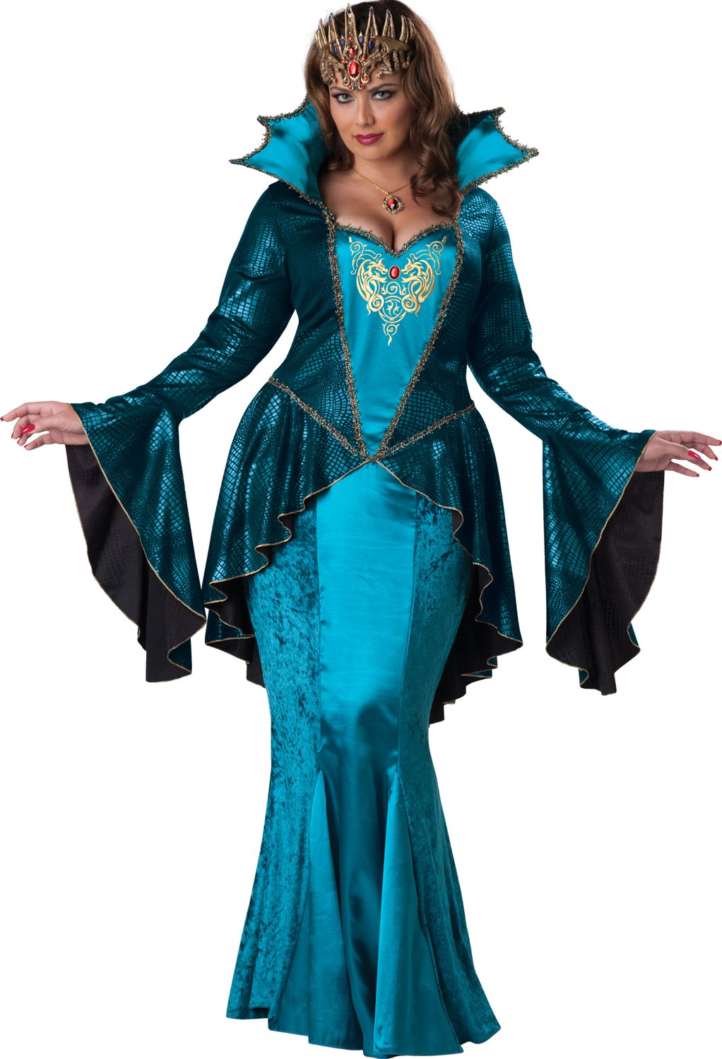 Mysterious Medieval Queen Plus Size Costume - Mr. Costumes