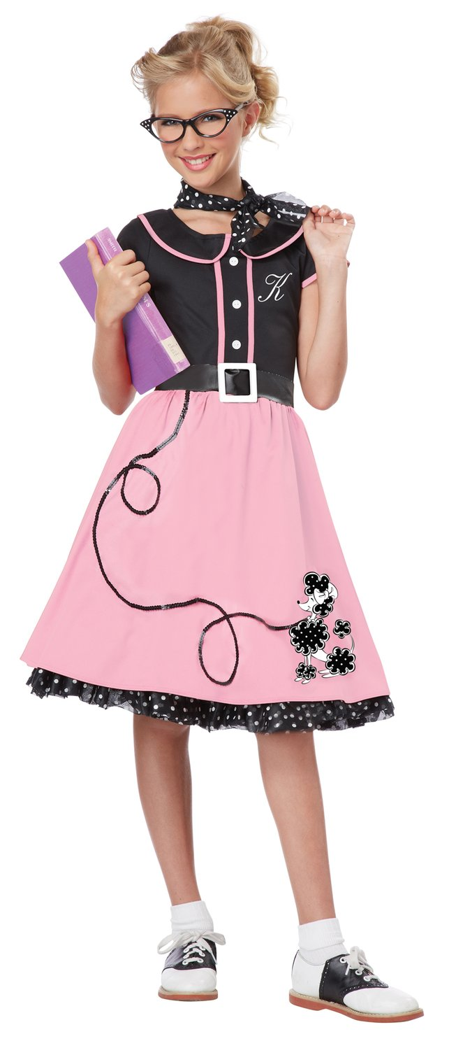 Sock Hop Sweetheart 50s Kids Costume - Mr. Costumes