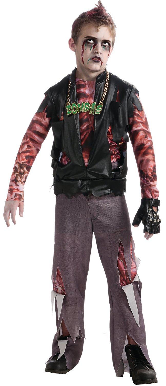 Boys Zombie Punk Rocker Kids Costume Mr Costumes