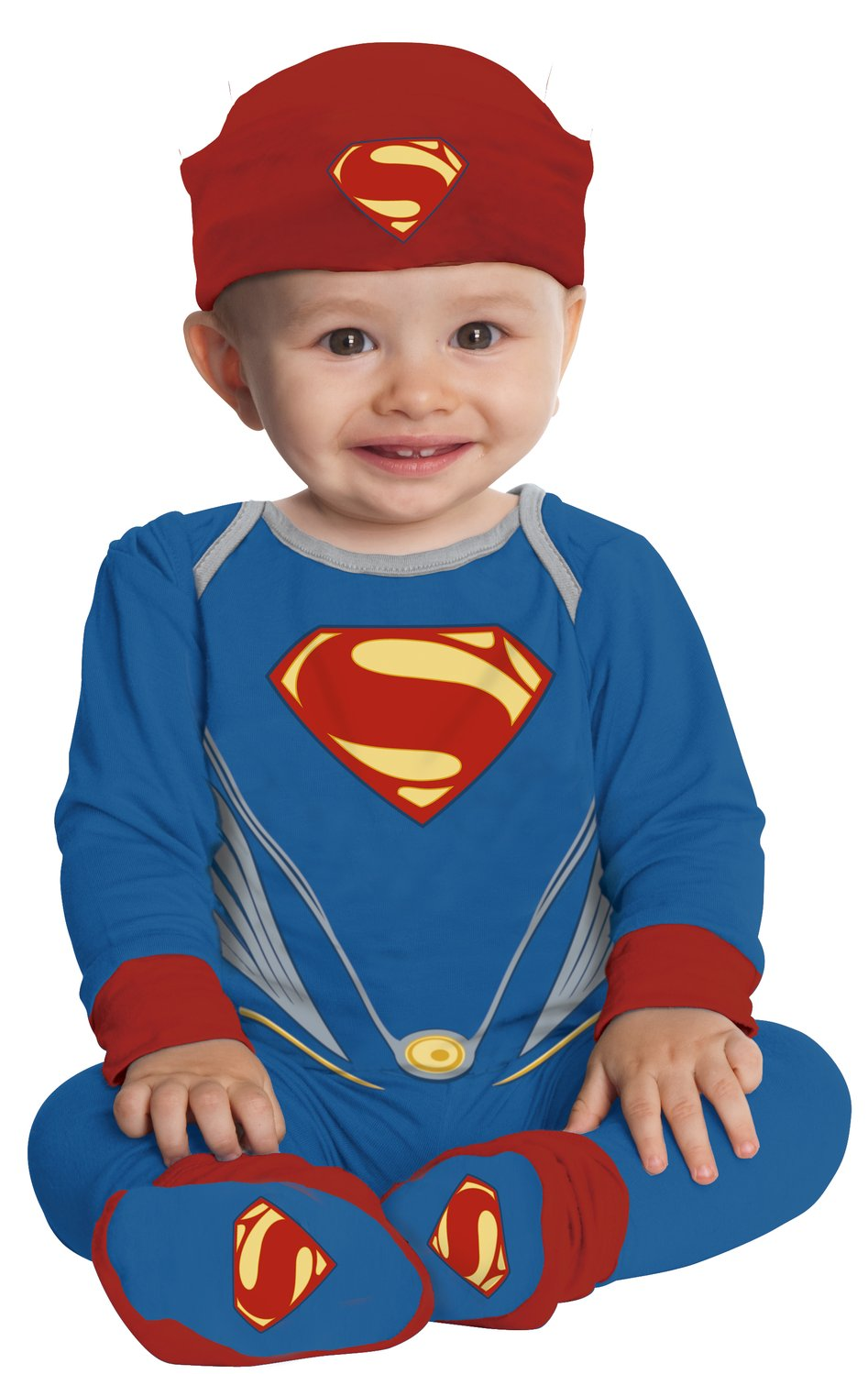 boys deluxe superman baby costume mr costumes. Black Bedroom Furniture Sets. Home Design Ideas