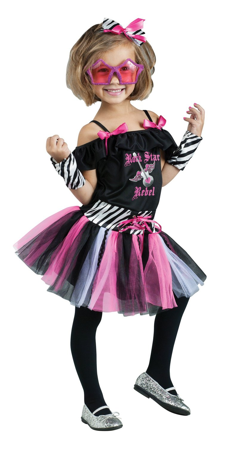 Girls Rockstar Rebel Kids Costume - Mr. Costumes