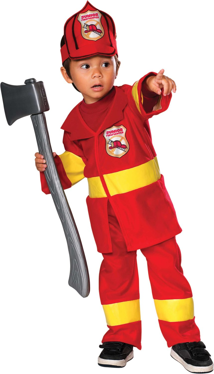 Make sure this fits by entering your model number.; Dress-up-and-play set with everything a child needs to look the part, plus exciting accessories to spur imaginative play Includes jacket, helmet, badge, fire extinguisher, bullhorn and reusable name tagReviews: K.