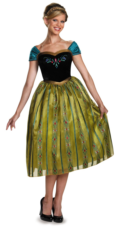 Anna Coronation Deluxe Frozen Adult Costume - Mr. Costumes