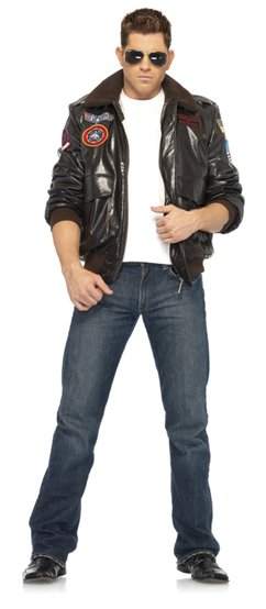Mens Bomber Jacket Top Gun Costume