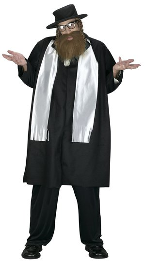 Mens Funny Rabbi Plus Size Costume