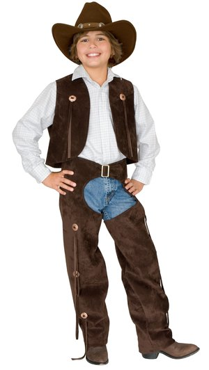 Boys Chaps and Vest Cowboy Kids Costume