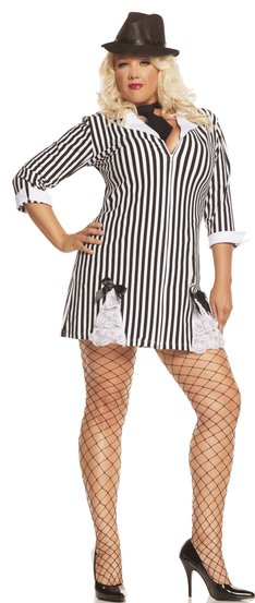 Gangster Girl Plus Size Costume