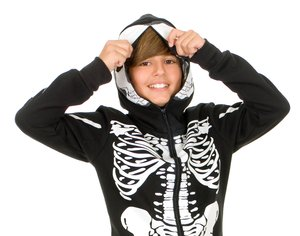 Boys Skeleton Sweatshirt Kids Costume