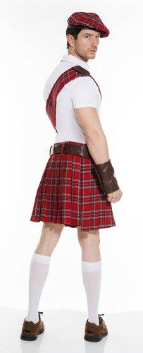 Red Scottish Kilt Adult Costume - Mr. Costumes