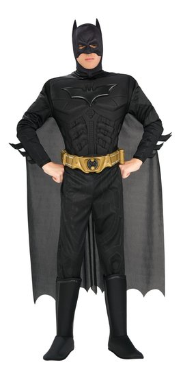 Adult Deluxe Muscle Chest Batman Dark Knight Costume